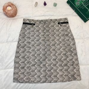 H&M Jacquard Weave Pencil Skirt